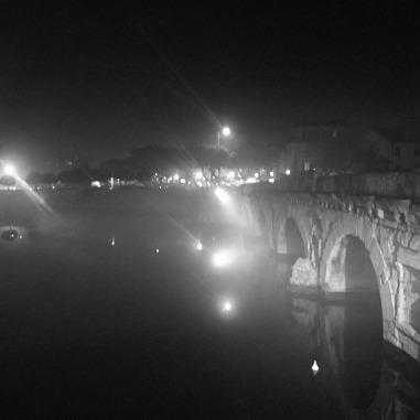 notturno con ponte
