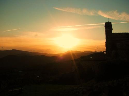 Tramonto su Petrella Guidi - Sant'Agata Feltria